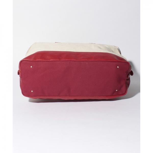 オティアス Otias / Herdmans社リネンコットン×型押しヌメ革ボストンバッグ