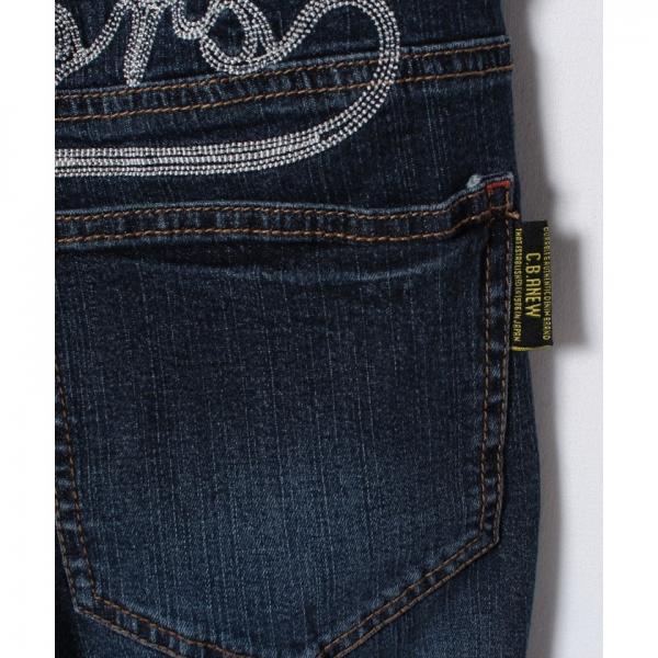 アメカジワッペン刺繍デニムパンツ(150~160cm)