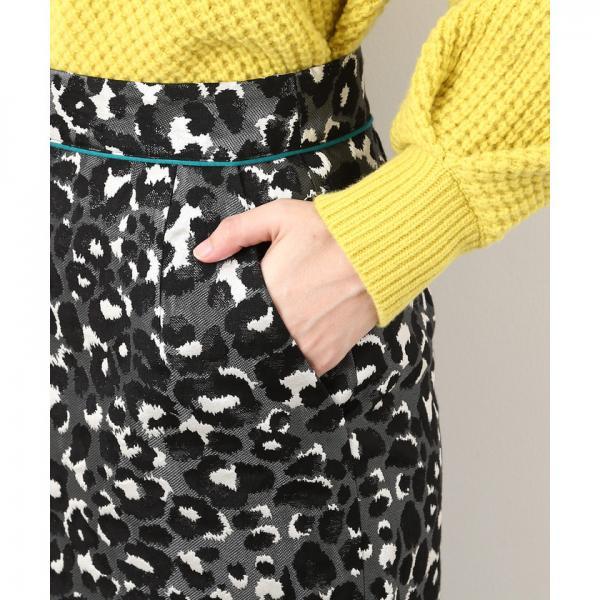 レオパードジャガードタイトスカート