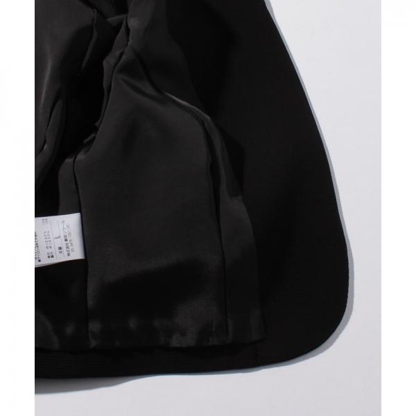 【オールシーズン・礼服・冠婚葬祭】ノーカラージャケット&セミフレアワンピース セットアップスーツ