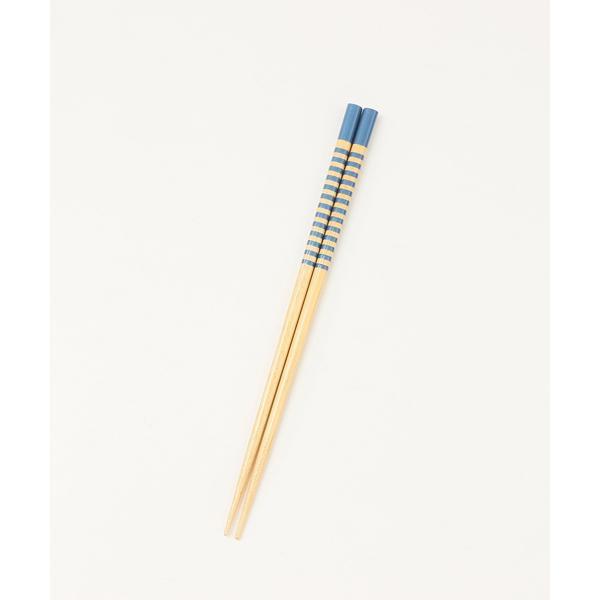 ボーダー柄箸5膳セット