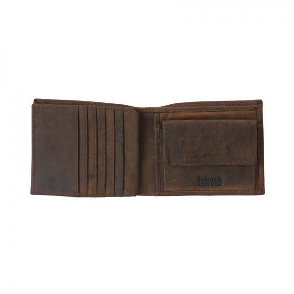 ハンターレザー二つ折り財布