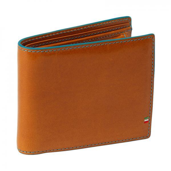 イタリアンレザーカラーエッジ二つ折り財布