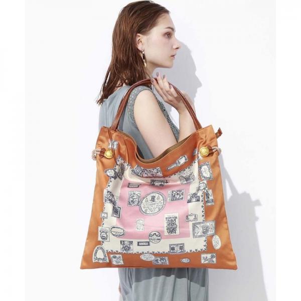 【WEB限定】マイルドサテンスカーフパネル柄 A4トートバッグ