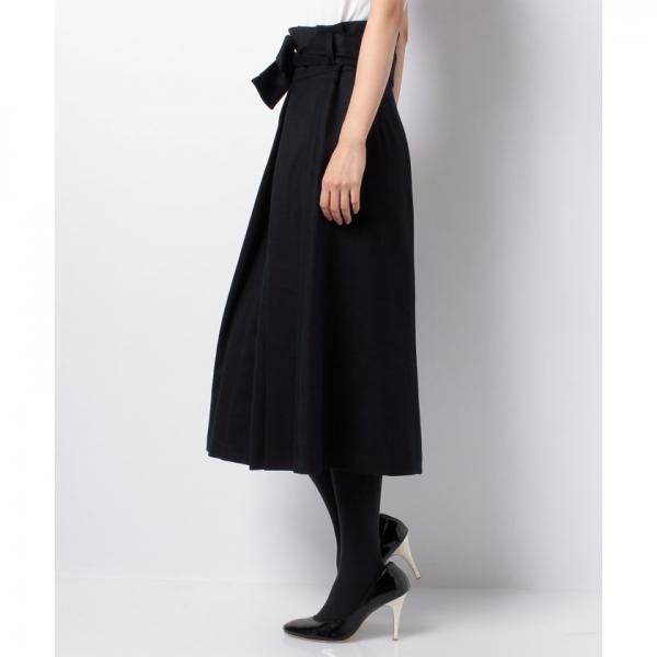 【BRAHMIN/ブラーミン】共布リボン付きウールフレアスカート