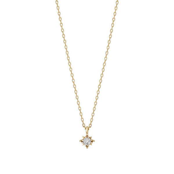 キラリホシ一粒ダイヤモンドネックレス0.04ct(YG)