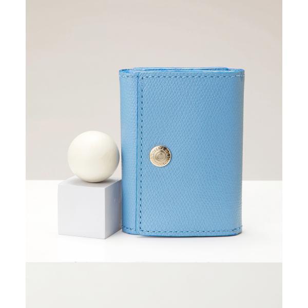 角シボ型押し・三つ折りミニ財布