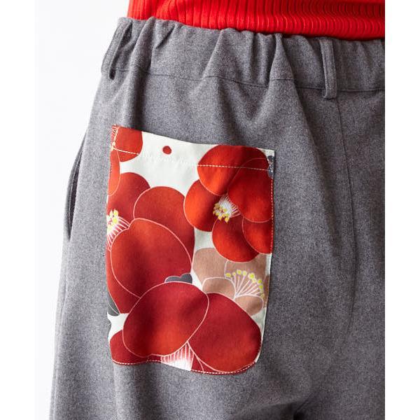 【雪椿】パッチポケットワイドパンツ