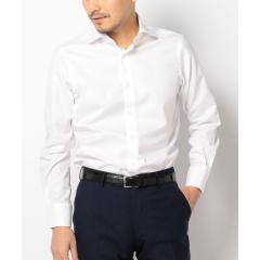 SD: ALBINI社製生地 ツイル ソリッド ワイドカラーシャツ(ホワイト)【お取り寄せ商品】