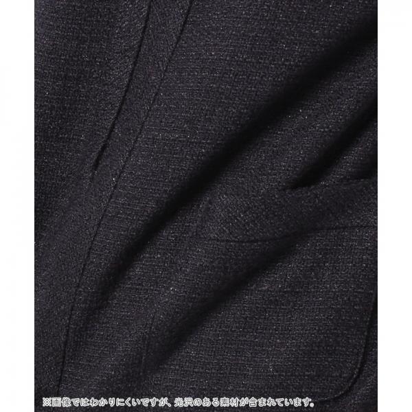 【セットアップ対応商品】ノーカラーラメツイードジャケット