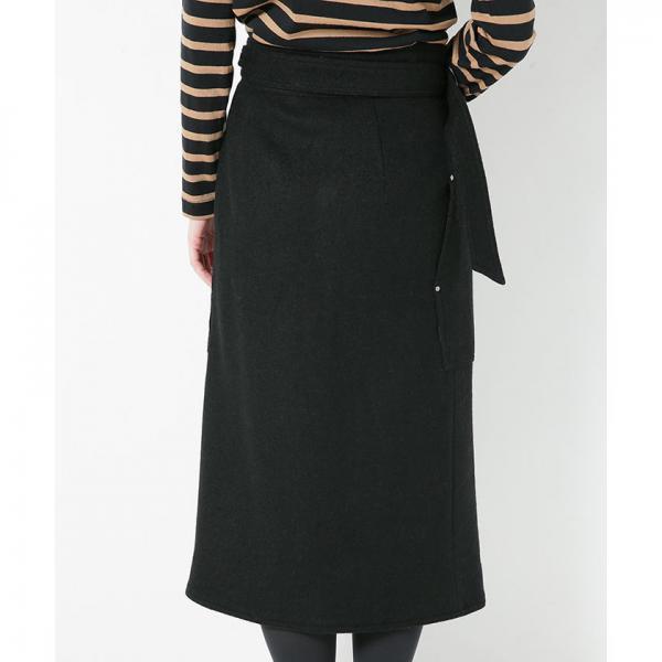 ウールジャージーラップスカート