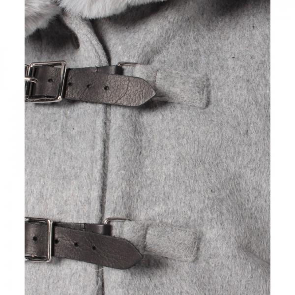 ポケットファーフードロングコート