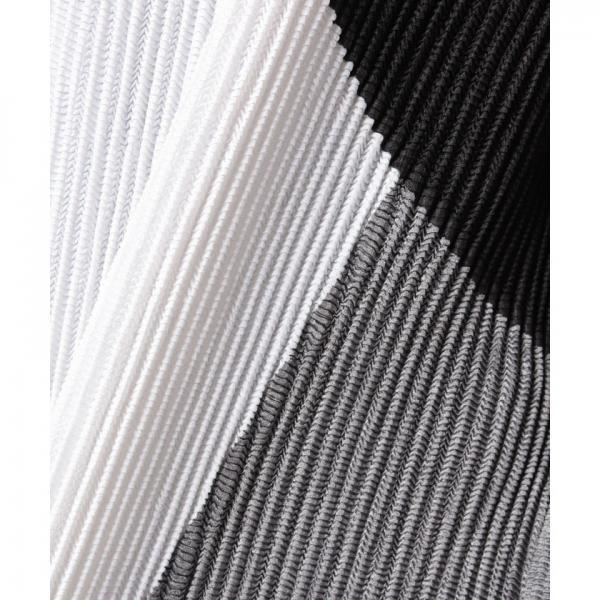 カラーブロックプリーツ羽織