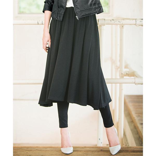 06f272c9ea008 LOHACO - レギンス付フレアースカート (ギャザースカート) MAGASEEK