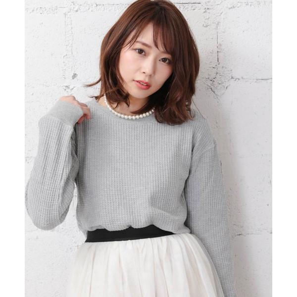 【2018春夏商品】デイリーUネックワッフルデザインTシャツ