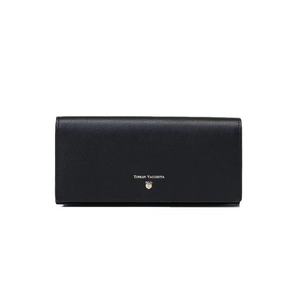 CLASSICO[クラシコ]角シボ型押し・かぶせのフタ長財布