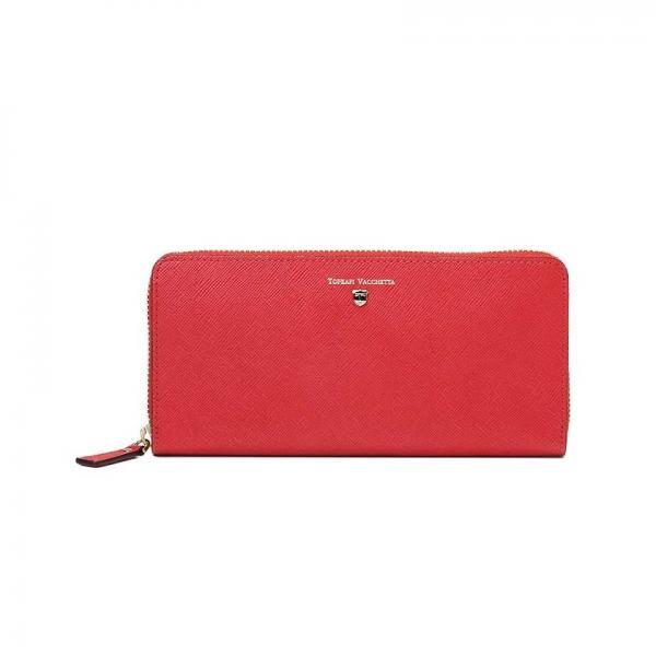 CLASSICO[クラシコ]角シボ型押し・ラウンドファスナー長財布