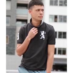 3Dライオン刺繍ポロシャツ