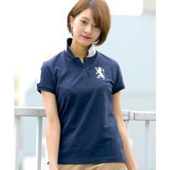 【ライクラ素材使用】3Dライオン刺繍ポロシャツ