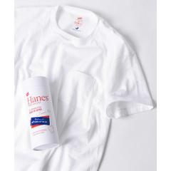Hanes×SHIPS JET BLUE: 別注 Japan Fit PREMIUM ポケットTシャツ【お取り寄せ商品】