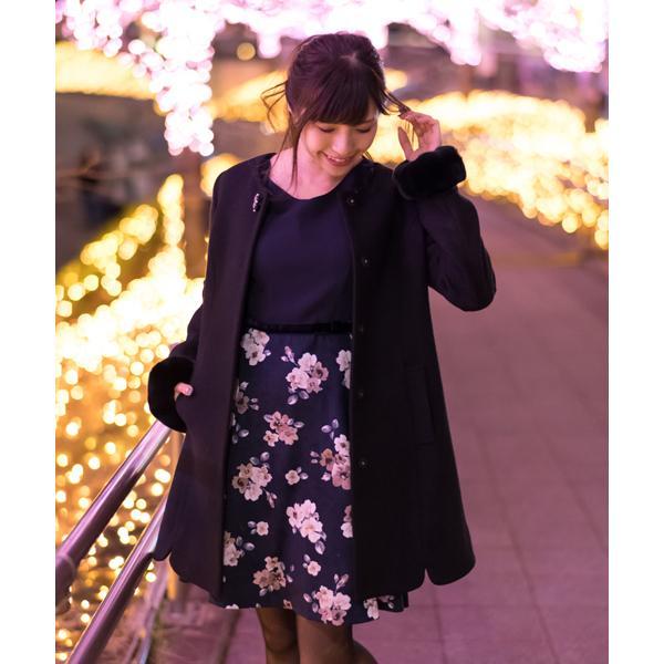 ★WEB限定★日本製花柄ドッキングワンピース(7R05‐0936A)