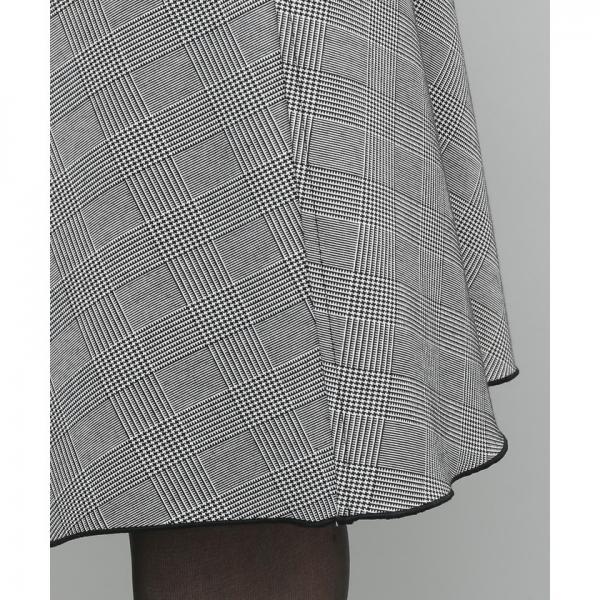 チェックリバーシブルフレアスカート