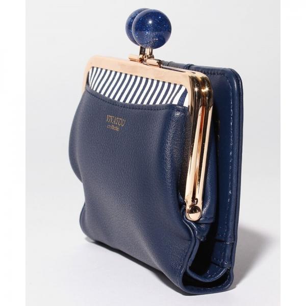 【VIVAYOU ビバユー】大き目ひねりのがま口折財布