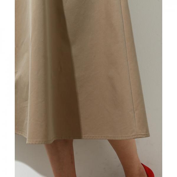 【ベルト付き】フラップポケットフレアースカート