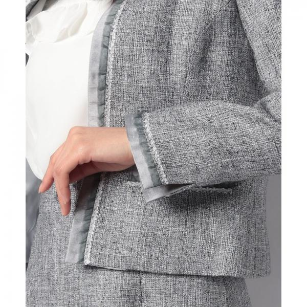 【セットアップ対応商品】スプリングツィードジャケット