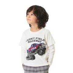 モンスタートラックレイヤード風Tシャツ