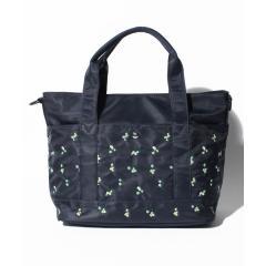フラワー刺繍ママトートバッグ
