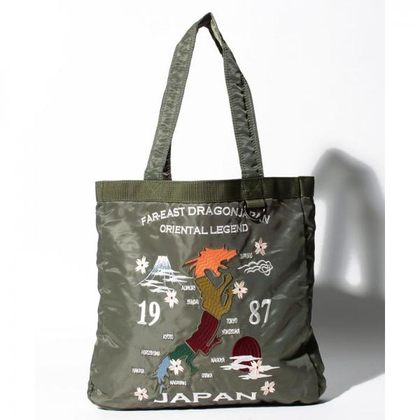 57149794016f LOHACO - スカジャン風刺繍入りトートバッグ (トートバッグ) MAGASEEK