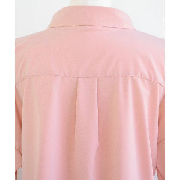 ウエスト紐付ドルマンテールカットスキッパーシャツ