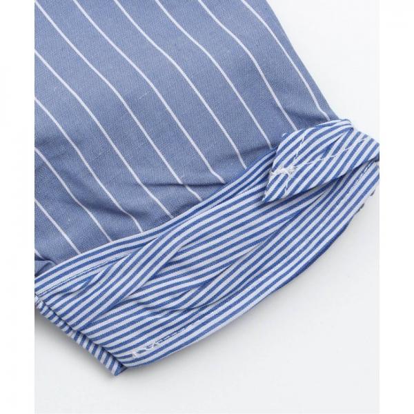 3色3柄袖リボンチュニック