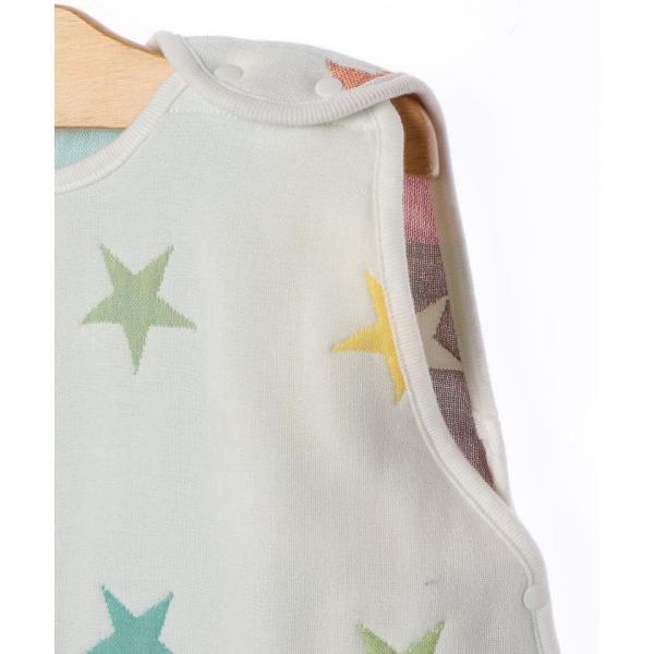 SHIPS KIDS:5重ガーゼ ベビー スリーパー(星柄)【お取り寄せ商品】