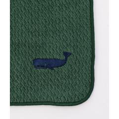 クジラ刺繍タオルハンカチ【お取り寄せ商品】