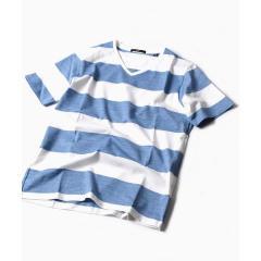 SC: MADE IN JAPAN ワイドボーダー Vネック Tシャツ【お取り寄せ商品】