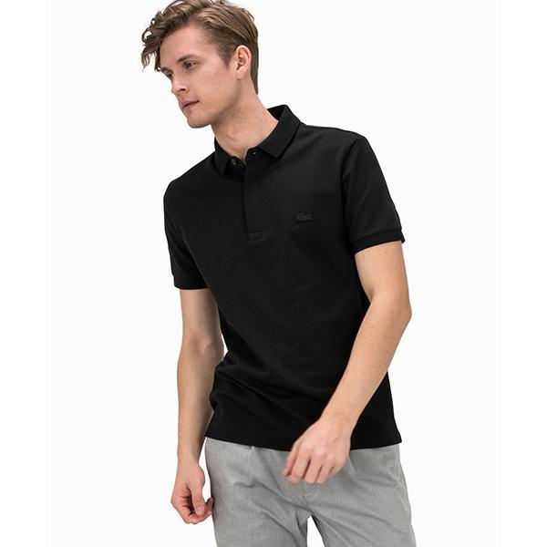 メンズラコステパリエディションレギュラーフィットストレッチコットンピケポロシャツ
