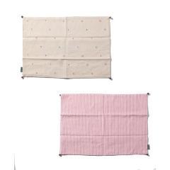 刺繍ボーダーリバーシブルランチョンマット