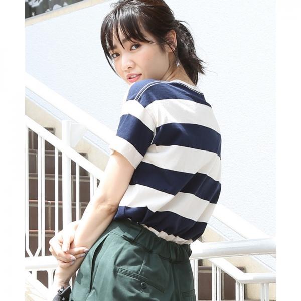 【CM着用アイテム】USAコットンボーダーTシャツ【お取り寄せ商品】