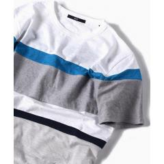 SC: パッチワーク ボーダー Tシャツ【お取り寄せ商品】