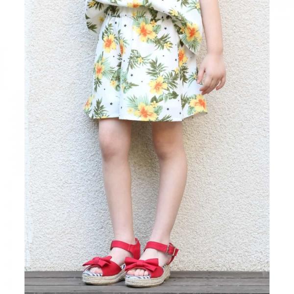 [140-150]アロハプリントショートパンツ【お取り寄せ商品】