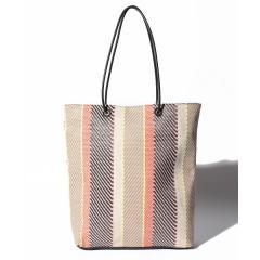 織り柄トートバッグ