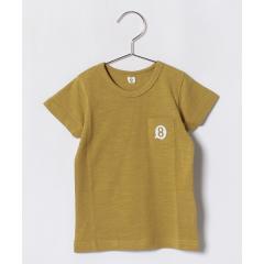 オーガニックコットンポケット付刺繍半袖Tシャツ