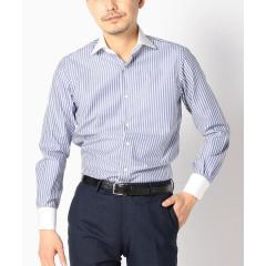 SD:【ALBINI社製生地】ロンドンストライプ クレリック ワイドカラー シャツ【お取り寄せ商品】