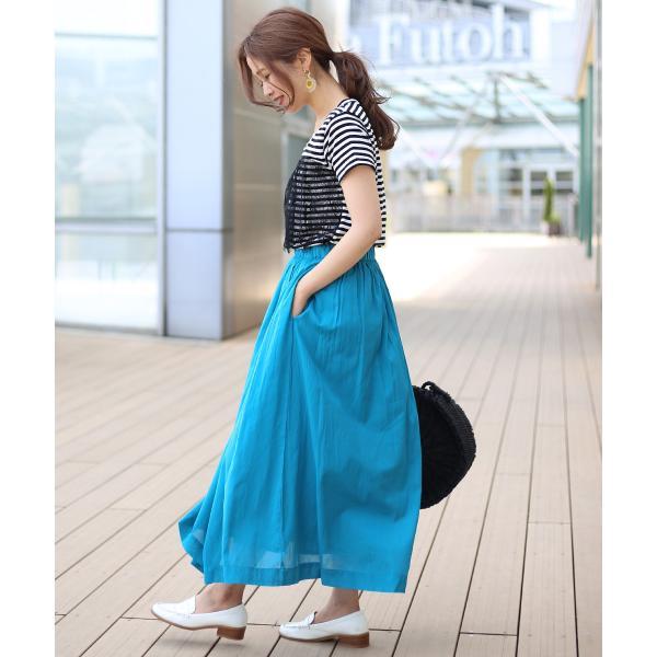 【WEB限定】インド綿ギャザースカート