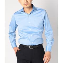 SD:【ALBINI社製生地】ツイル ワイドカラー シャツ(ブルー)【お取り寄せ商品】