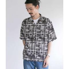 エステルオープンカラーショートスリーブシャツ【お取り寄せ商品】