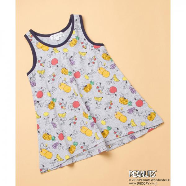 457c522f9a756 LOHACO -  ROPE  PICNIC KIDS×PEANUTS(SNOOPY) フルーツ柄ワンピース ...