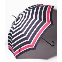 パネルボーダー柄長傘雨傘